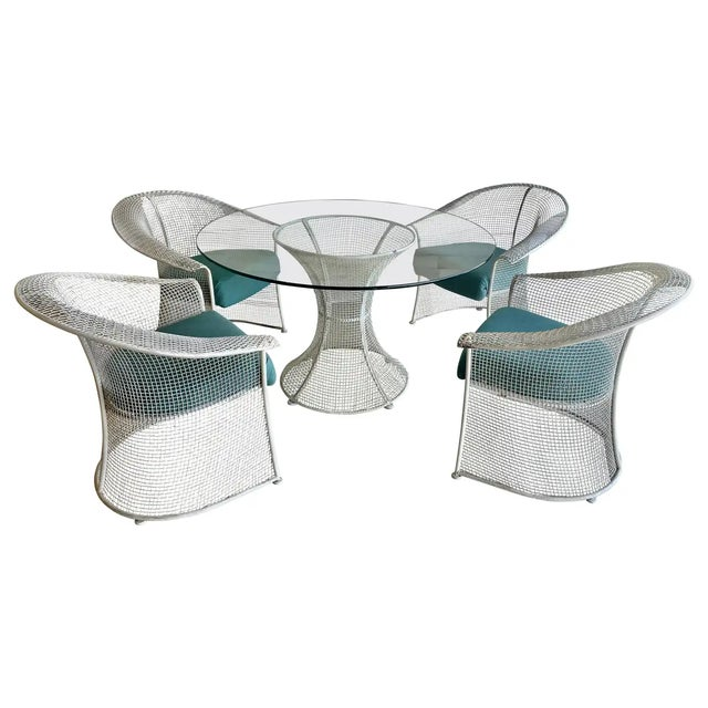 Mid Century Wire Formed Patio Set For Sale - Image 13 of 13