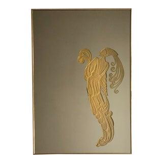 1970s Art Deco Revival Illuminated Mirror For Sale