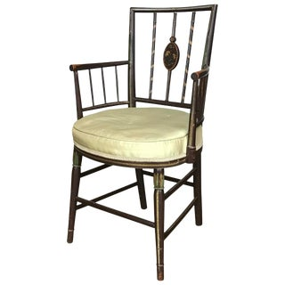 Mid 19th Century Antique English Painted Armchair For Sale