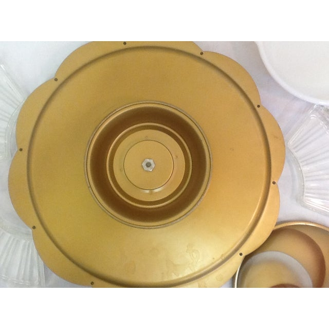 MCM Milkglass & Metal Lazy Susan Serving Set - Image 7 of 8