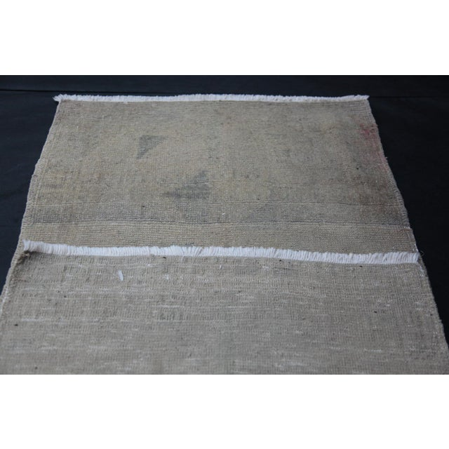 """Beige Wonderful Muted Color Rug - 1'10"""" x 3'5"""" For Sale - Image 8 of 8"""