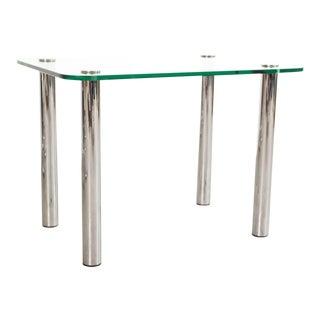 Vintage Leon Rosen for Pace Collection Chrome & Glass Side Table For Sale