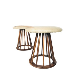 Pair of Mid-Century Vintage Spindle Stool by Arthur Umanoff For Sale