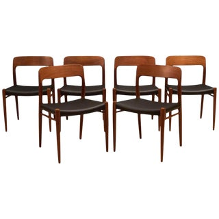 Danish Teak Niels Moller 75 Dining Chairs- Set of 6 For Sale