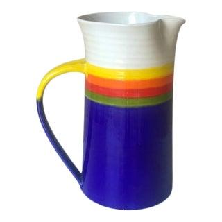 Vintage 1980s Carol Herschleb Pottery Pitcher For Sale