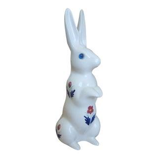 Vintage Ceramic Handpainted Bunny Rabbit Figurine For Sale