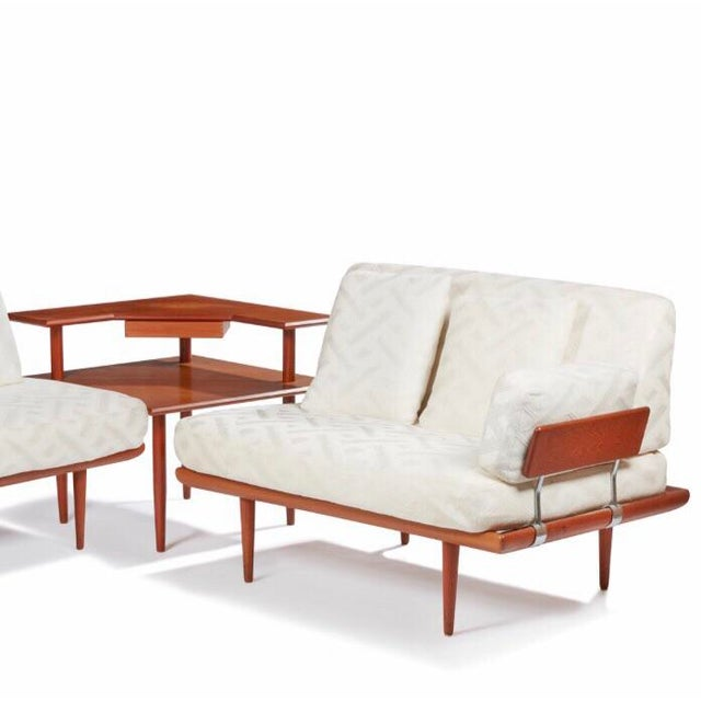 Mid-Century Modern Mid Century Frank and Son Danish Teak Sofa Sectional For Sale - Image 3 of 4