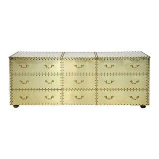 Sarreid Brass-Clad Dresser For Sale
