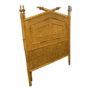 Mid-Century Modern Bamboo Twin Headboards - a Pair For Sale