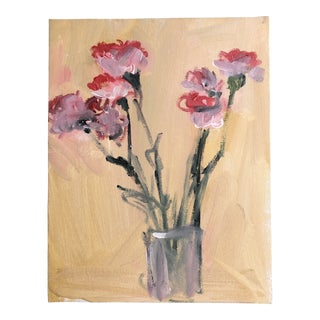 Original Contemporary Still Life Painting Carnations For Sale