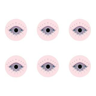 Scarlett Evil Eye Coasters Set of 6 For Sale