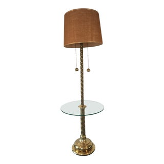 1960s Hollywood Regency Brass Tall Floor Lamp For Sale