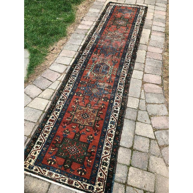 "Mid 20th Century Vintage Karajeh Wool Runner Rug - 2'10""x11'2"" For Sale - Image 5 of 10"