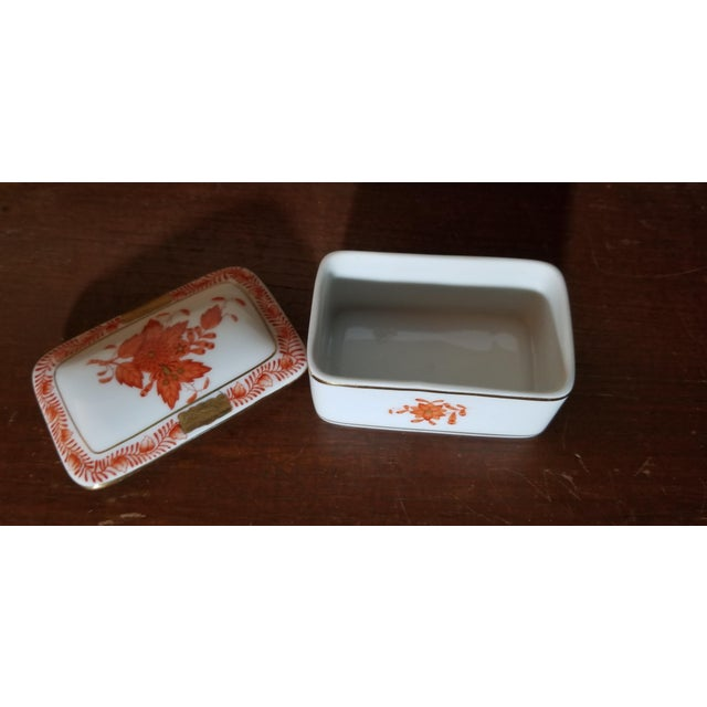 Herend Herend Chinese Bouquet Trinket Box For Sale - Image 4 of 6