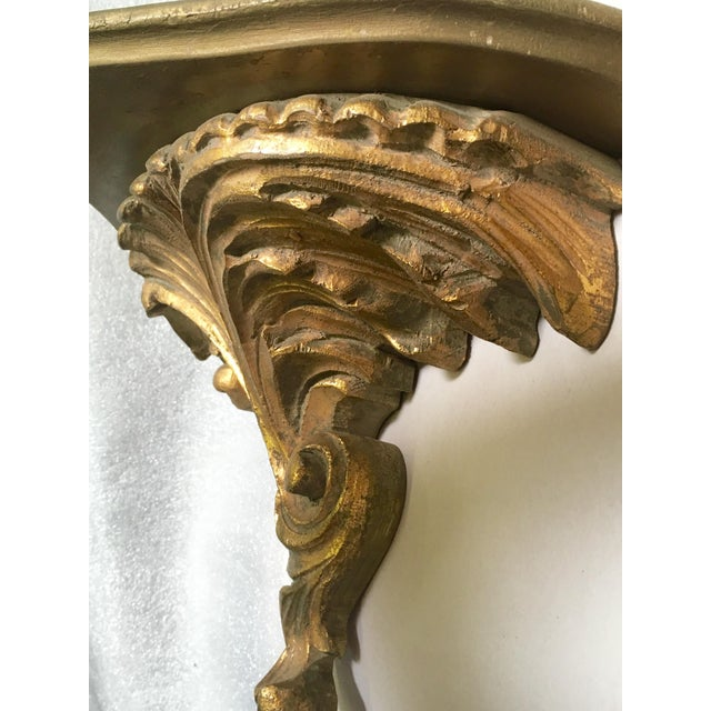 Gilt Wood Carved Italian Brackets - A Pair - Image 4 of 5