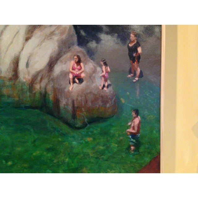 Stephen Remick Bathers at a Vermont Swimming Hole. Painting by Stephen Remick For Sale - Image 4 of 8