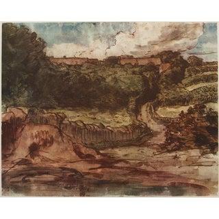 Jean-François Millet, Landscape 1959 Lithograph For Sale