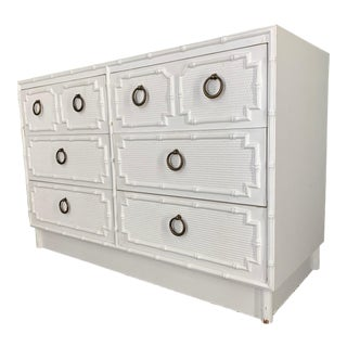 Faux Bamboo Double Dresser by Omega For Sale
