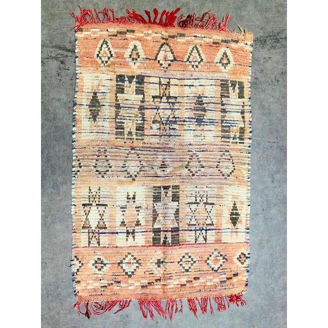 Vintage Berber Handmade Rug- 2′9″ × 4′1″ For Sale - Image 11 of 11