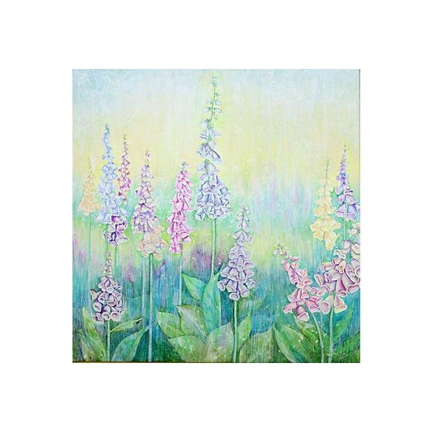 Vintage Pastel Drawing - Foxgloves - Image 2 of 5