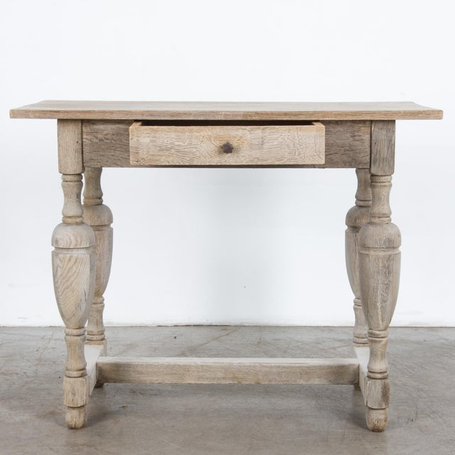 French Provincial Antique French Oak Table With Drawer For Sale - Image 3 of 12