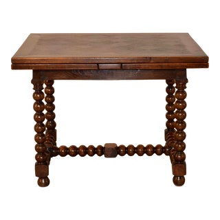 19th C. French Draw Leaf Table For Sale