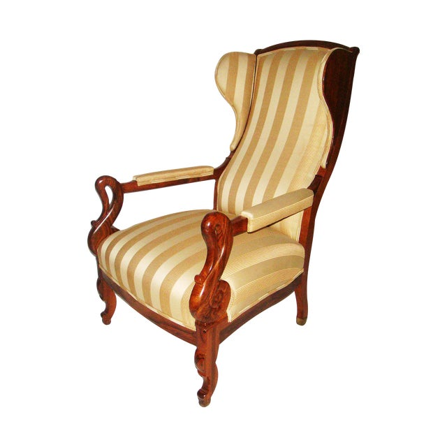 Louis Phillipe Wing Back Armchair - Image 1 of 6
