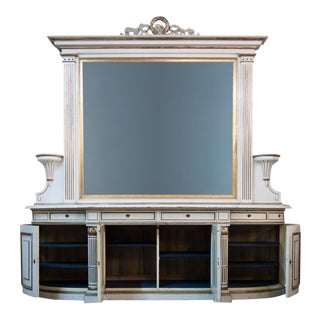 19th Century Antique Sideboard With Mirror For Sale