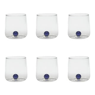 Bilia Tumbler in Blue - Set of 6 For Sale