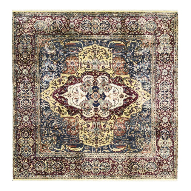 Traditional Hand Woven Rug 9' X 9'1 For Sale