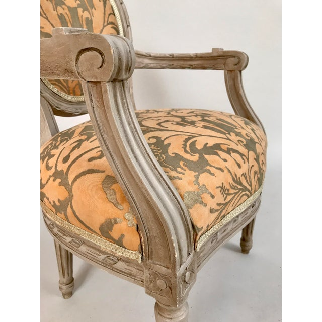 1940s 1940s French Louis XVI Style Child's or Doll's Armchair Attributed to Maison Jansen For Sale - Image 5 of 8