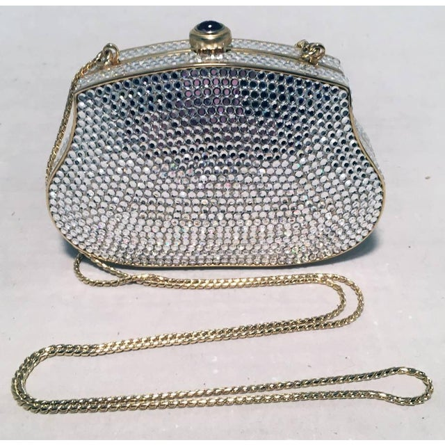 a24c84d01 Animal Skin Judith Leiber Clear Swarovski Crystal Mini Minaudiere Evening  Bag Clutch For Sale - Image