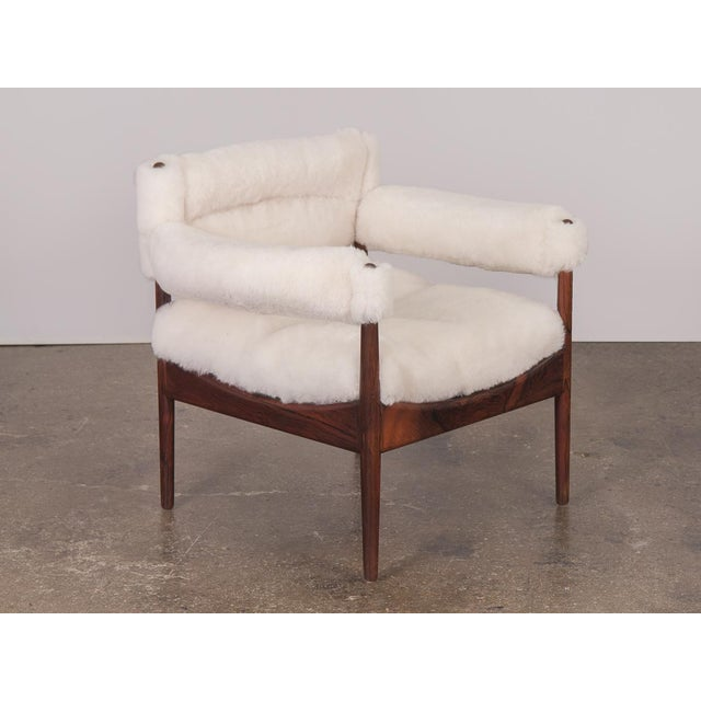 Mid-Century Modern Kristian Vedel Sheepskin Modus Lounge Chairs - a Pair For Sale - Image 3 of 13
