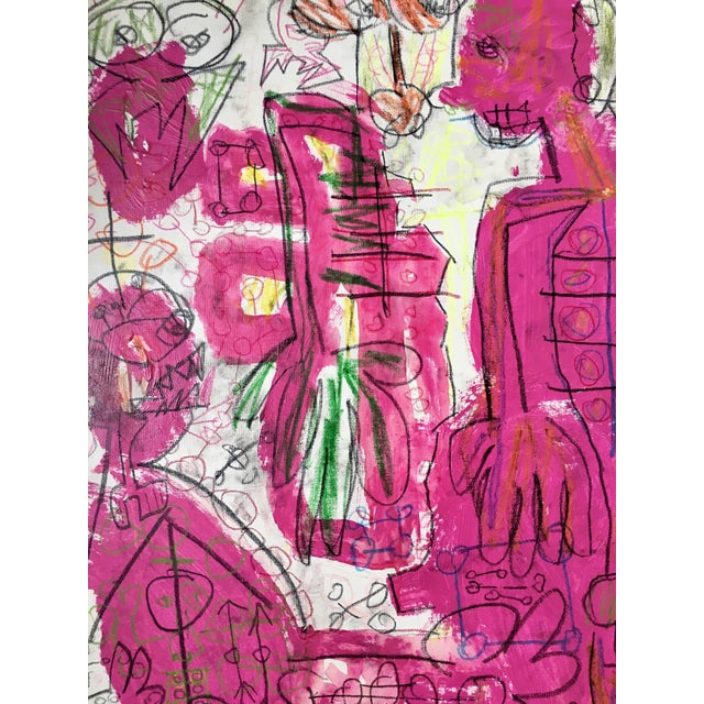 Basqait Inspired Neo-Expressionist Painting For Sale - Image 4 of 5