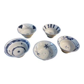 Late 19th Century Japanese Arita Sake Cups - Set of 5 For Sale