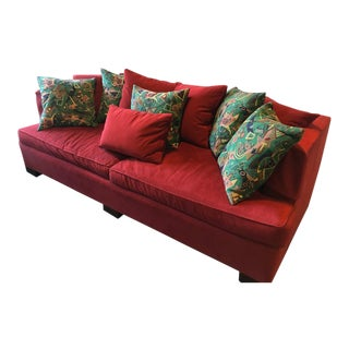 Hickory Chair Transitional Brick Red Sectional Couch For Sale