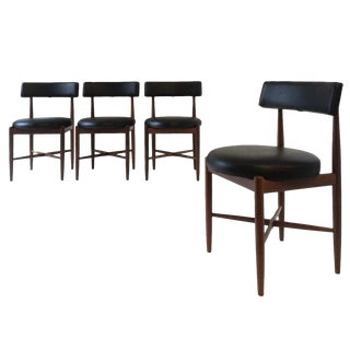 Set of 4 Vintage Mid Century Dining Chairs by G Plan For Sale