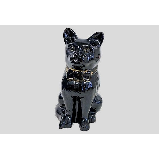 Life-Sized Antique Staffordshire Jackfield Cat For Sale - Image 5 of 5