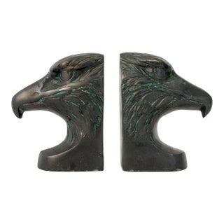 Brass Eagle Head Bookends For Sale