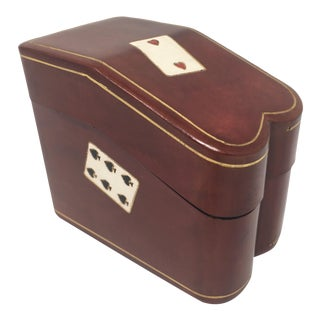 Mid Century Italian Two Deck Card Case For Sale