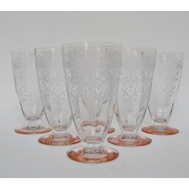 Etched Fluted Glasses - Set of 6 - Image 3 of 6