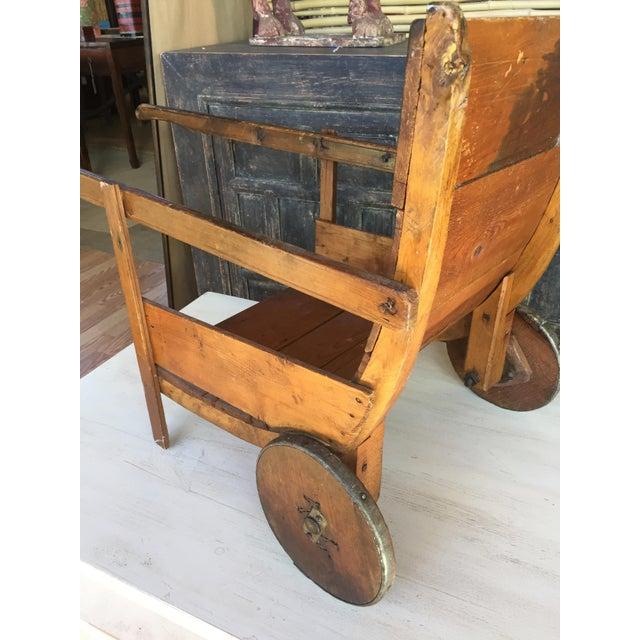 Antique Wood Sedan Chair. A very unique piece!