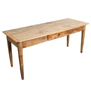 19th Century Rustic Pine Farm Work Table From Italy For Sale