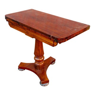 19th Century English Regency Mahogany Game Table For Sale
