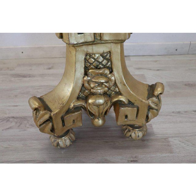 19th Century Italian Baroque Louis XIV Style Giltwood Torchère or Floor Lamp For Sale - Image 10 of 13
