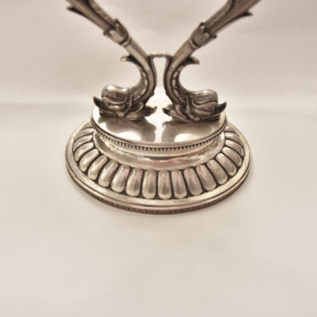 A Pair of 18th Century Silver Candle Holders For Sale - Image 6 of 7