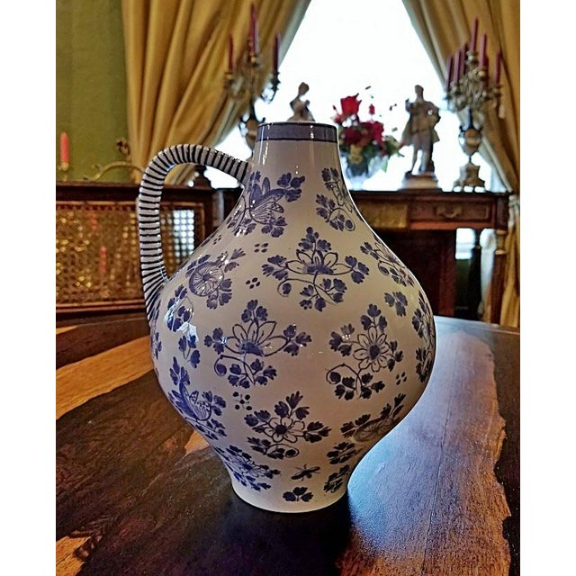 Early 19c French Utzschneider & Cie Sarreguemines Pitcher For Sale - Image 9 of 11
