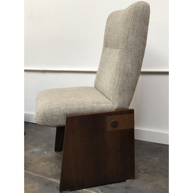 1970s Mid-Century Modern Lane Brutalist Side Chairs- A Pair For Sale - Image 5 of 12