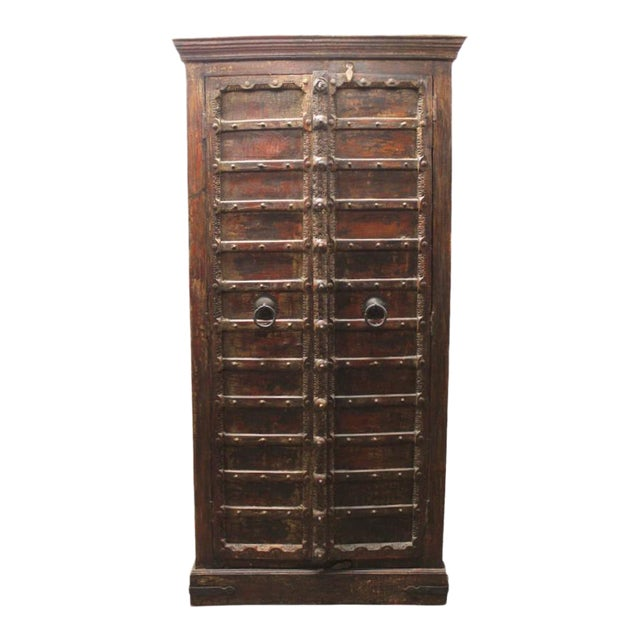 Custom Antique Indian Cabinet - Image 1 of 5