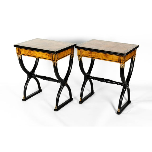 Early 19th Century Ebony Side or End Tables - a Pair For Sale - Image 4 of 13
